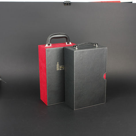 Wine Box Manufacturer red Leather wine gift bags