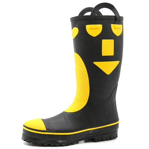 Waterproof anti slip steel toe puncture proof fire fighter boots