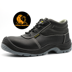 Oil Slip Resistant Steel Toe Prevent Puncture Labor Safety Shoes Black