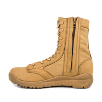 Men's army with Side Zipper for work desert boots 7276