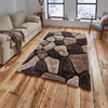 Polyester 3D Stone Design Shag Carpet Floor Area Rug