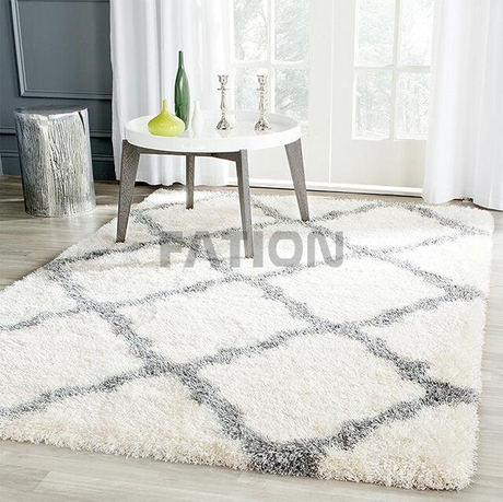 Lvory Fluffy Shag Collection Carpet Home Area Rug