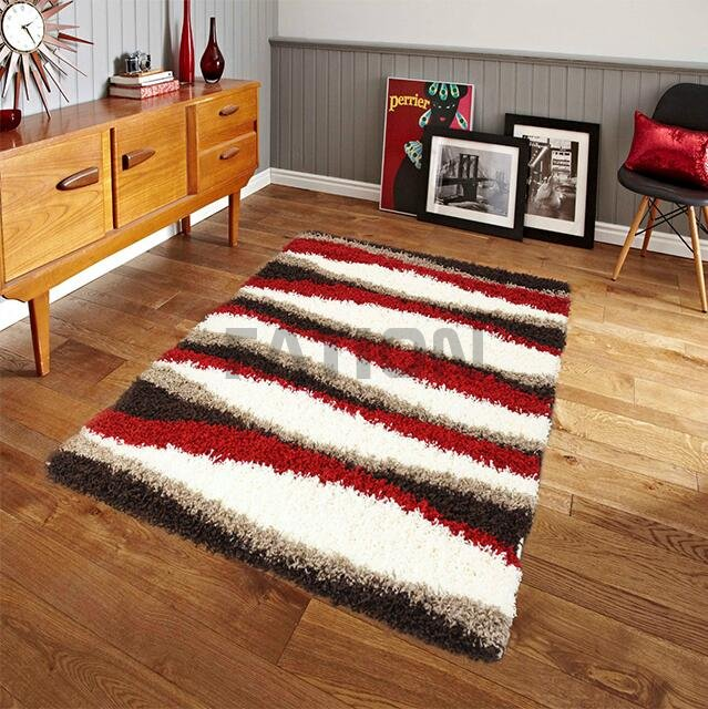 Contemporary Plain Shaggy Rug Living Room Floor Carpet