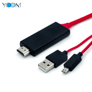 YCOM Micro USB To HDMI Video HDTV Adapter Audio Cable