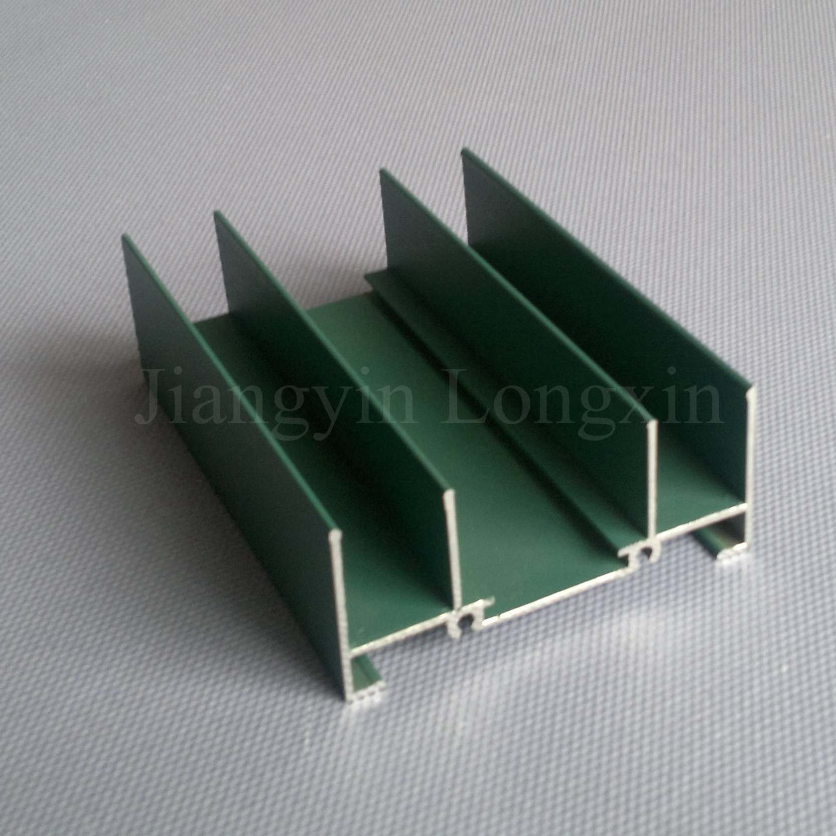 Aluminium Profiles with Green Powder Coating for Windows