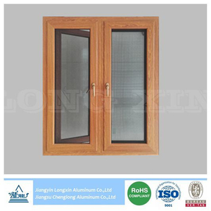 high quality Wooden Print Aluminium Profile for Casement Windows with thermal break
