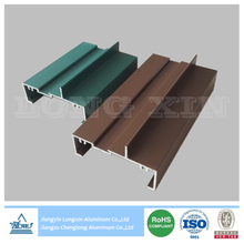 Green And Brown Powder Coated Aluminium Profile for Sliding Windows