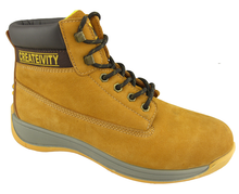 0133 nubuck leather impact resistant safety work shoes