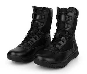 99016 Genuine leather military combat boots