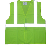 Polyester traffic reflective safety working vest in China
