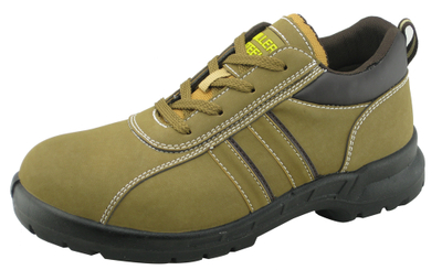 Sports style low cut PU nubuck mining safety shoes