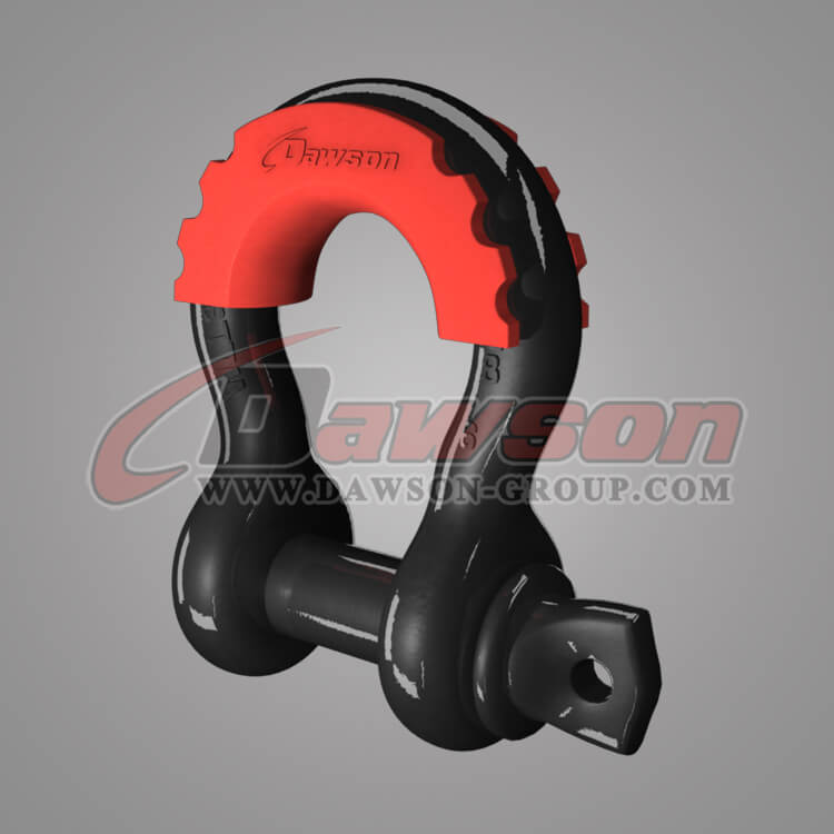 Drop Forged Bow Shackle with PU Protection for Towing, US Type Alloy Bow Shackle - China Supplier, Factory