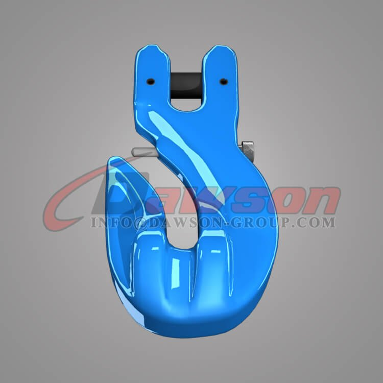 Grade 100 Special Clevis Grab Hook with Safety Pin, Clevis Grab Hook for G100 Chain Slings - China Manufacturer, Supplier - Dawson Group Ltd.