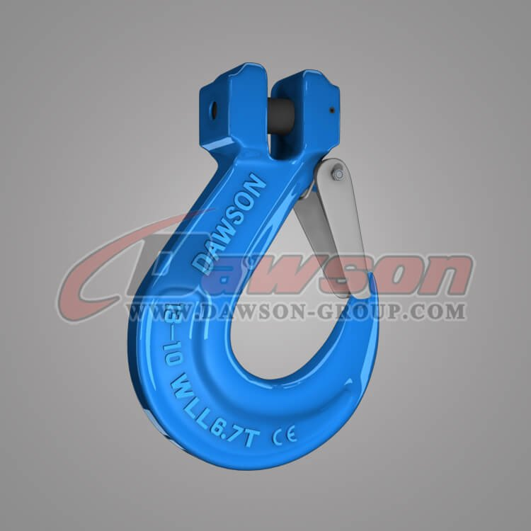 Grade 100 Clevis Sling Hook with Cast Latch, Alloy Steel Clevis Hook - China Manufacturer, Supplier