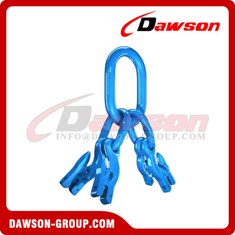 G100 Master Link Assembly + G100 Eye Grab Hook with Clevis Attachment×4 - Dawson Group Ltd. - China Manufacturer, Factory