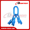 DS1068 G100 Master Link Assembly + G100 Eye Grab Hook with Clevis Attachment for Adjust Chain Length × 4