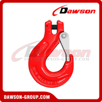 G80 / Grade 80 Clevis Sling Hook with Cast Latch for Lifting Chain Slings