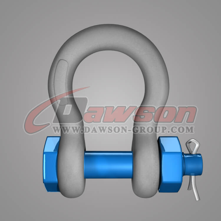 Dawson Brand Hot Dip Galvanized US Type Bow Shackle with Safety Pin - China Factory, Supplier