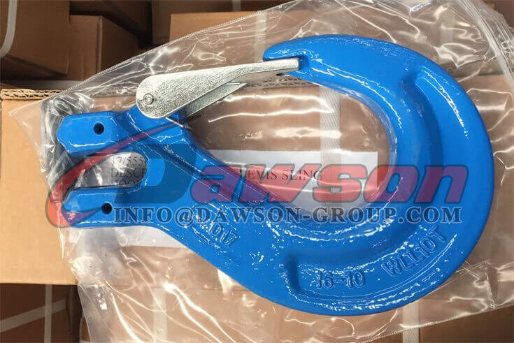 Grade 100 Clevis Sling Hook With Safety Latch for Chain Sling Fitting - Dawson Group Ltd. - China Supplier
