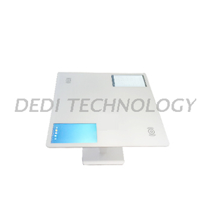 "Dedi 13.3 "" Pure White Multi - touch Double Screen Coffee Table , Conference Smart Table"