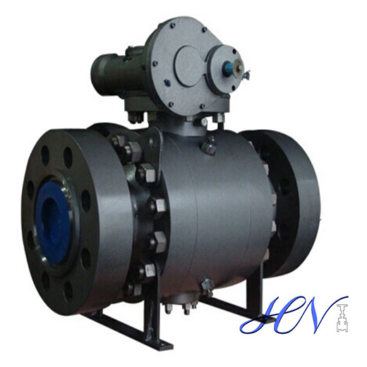 High Pressure Metal Seated Forged Steel Trunnion Mounted Ball Valve