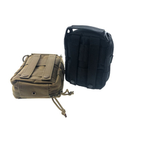 Military Black Canvas Aid Bag Camouflage Hardware