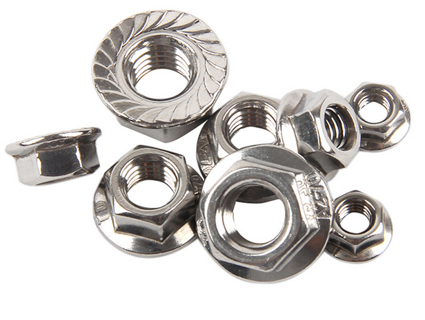 Stainless steel flange lock nut