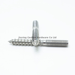 SS304 double thread screw hanger bolt
