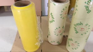 45cm x 300 meter PVC film Reel food Cling film