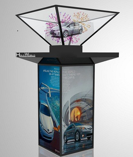 360° Inverted 3D Hologram Pyramid Showcase Holographic Advertising Player