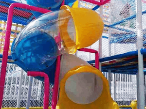 Transparent Slide Tubes of kids playarea