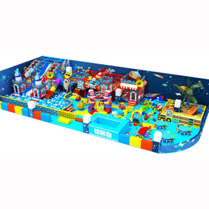 Space Themed Entertainment Kids Indoor Playground with Ball Pit