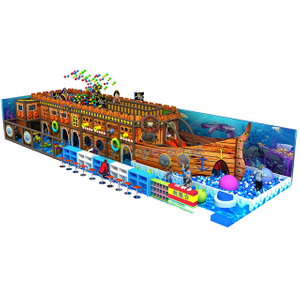 Pirate Ship Themed Children Soft Indoor Playground Equipment with Ball Pit