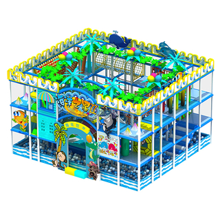 Ocean themed Amusement Park Small Kids Soft Play Structure with Ball Pit