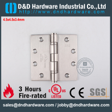 DDSS001-4.5x4.5x3.4mm-SSS316 R38013 Fire Rated 2BB Hinge with UL List for Metal Door