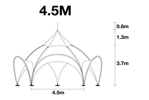 4.5m arch tent