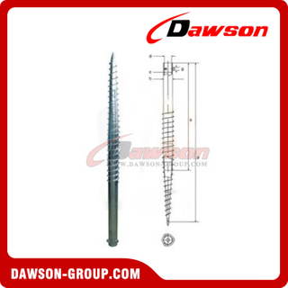 DSb10 N76×1800 Earth Auger N Ground Pile Series