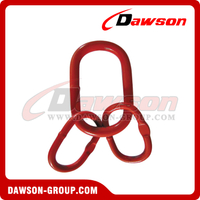 Grade 80 Power Plastified European Type Master Link Assembly for G80 Chains / Wire Rope Lifting Slings