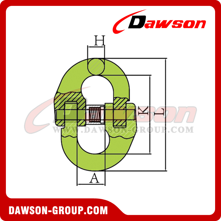 DS1002 G100 Japanese Type Connecting Link - Dawson Group Ltd. - China Manufacturer Supplier, Factory