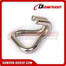 DSWH50501 BS 3000KG / 6600LBS Stainless Steel Wire Hook, Double J Hook