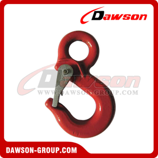 DS238 Grade 80 Special Eye Hook with Latch, G80 Eye Hoist Hook