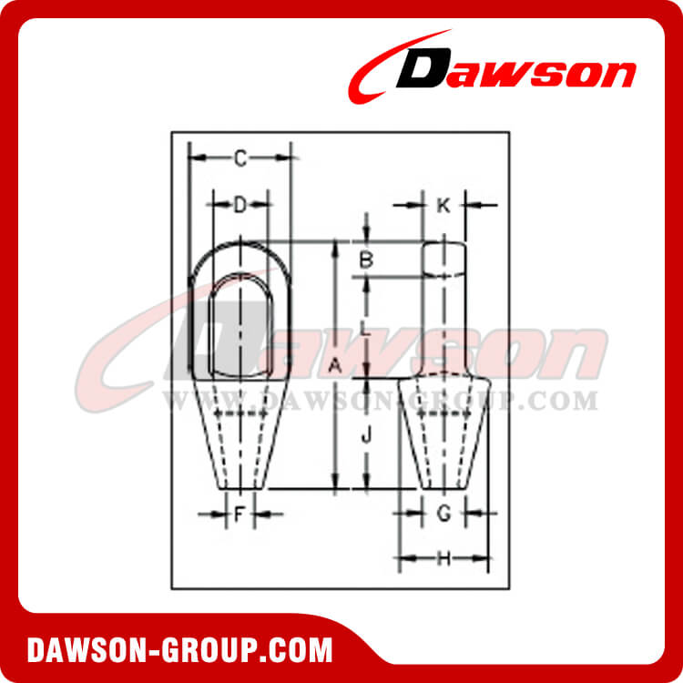Closed Spelter Sockets Dawson Group Ltd. - China Manufacturer
