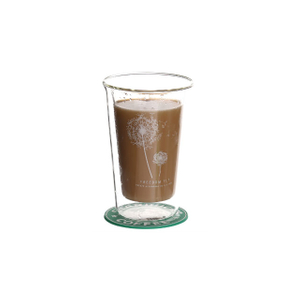320ml double wall glass coffee cup
