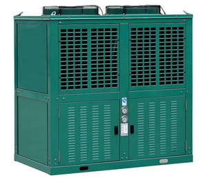 V Shape encajonado R404A/R22 Air Cooled Condensing Unit Used para la cámara fría