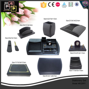 china pu leather office storage packaging box