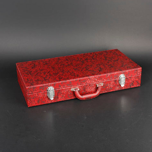 Wine Box Manufacturer PU leather luxury 4 bottle wine box