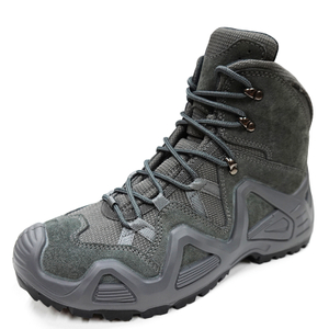 Grey suede leather anti slip composite toe men safety boots for work