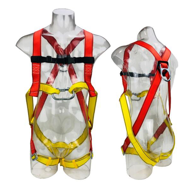 Polyester Webbing Anti-falling Protection Full Body Harness Industrial Safety Harness