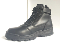 military boot embossed leather combat boots police tactical boots