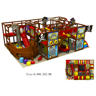 Soft padded indoor playground with roof